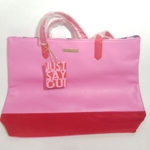 Juicy Couture Just Say OUI Tote Bag Oink/Red NWT